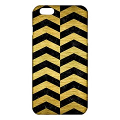 Chevron2 Black Marble & Gold Brushed Metal Iphone 6 Plus/6s Plus Tpu Case by trendistuff