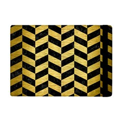 Chevron1 Black Marble & Gold Brushed Metal Apple Ipad Mini 2 Flip Case by trendistuff