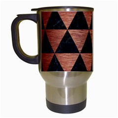 Triangle3 Black Marble & Copper Brushed Metal Travel Mug (white) by trendistuff