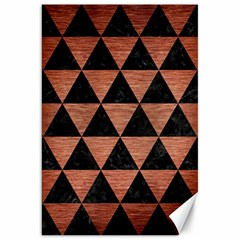 Triangle3 Black Marble & Copper Brushed Metal Canvas 20  X 30  by trendistuff