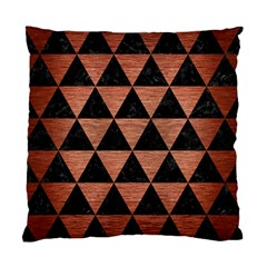 Triangle3 Black Marble & Copper Brushed Metal Standard Cushion Case (one Side) by trendistuff