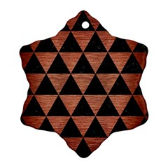 Triangle3 Black Marble & Copper Brushed Metal Ornament (snowflake)