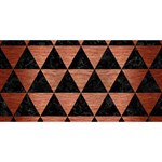 TRIANGLE3 BLACK MARBLE & COPPER BRUSHED METAL Best Friends 3D Greeting Card (8x4) Back