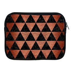 Triangle3 Black Marble & Copper Brushed Metal Apple Ipad Zipper Case by trendistuff