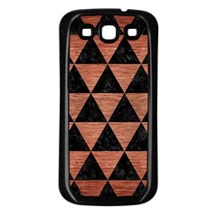Triangle3 Black Marble & Copper Brushed Metal Samsung Galaxy S3 Back Case (black) by trendistuff