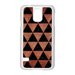 Triangle3 Black Marble & Copper Brushed Metal Samsung Galaxy S5 Case (white) by trendistuff