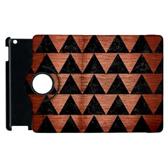 Triangle2 Black Marble & Copper Brushed Metal Apple Ipad 3/4 Flip 360 Case by trendistuff