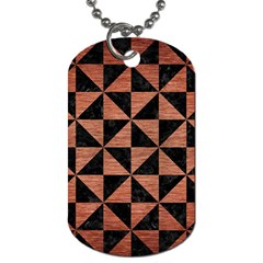 Triangle1 Black Marble & Copper Brushed Metal Dog Tag (two Sides) by trendistuff