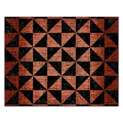 Triangle1 Black Marble & Copper Brushed Metal Jigsaw Puzzle (rectangular) by trendistuff