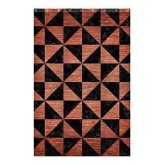 Triangle1 Black Marble & Copper Brushed Metal Shower Curtain 48  X 72  (small) by trendistuff
