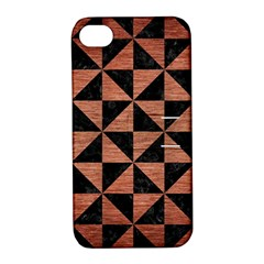 Triangle1 Black Marble & Copper Brushed Metal Apple Iphone 4/4s Hardshell Case With Stand by trendistuff