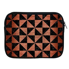 Triangle1 Black Marble & Copper Brushed Metal Apple Ipad Zipper Case by trendistuff