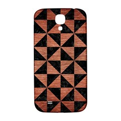 Triangle1 Black Marble & Copper Brushed Metal Samsung Galaxy S4 I9500/i9505  Hardshell Back Case by trendistuff