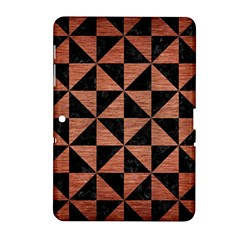 Triangle1 Black Marble & Copper Brushed Metal Samsung Galaxy Tab 2 (10 1 ) P5100 Hardshell Case