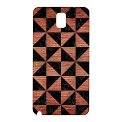 Triangle1 Black Marble & Copper Brushed Metal Samsung Galaxy Note 3 N9005 Hardshell Back Case by trendistuff