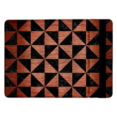 Triangle1 Black Marble & Copper Brushed Metal Samsung Galaxy Tab Pro 12 2  Flip Case by trendistuff