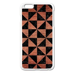 Triangle1 Black Marble & Copper Brushed Metal Apple Iphone 6 Plus/6s Plus Enamel White Case by trendistuff