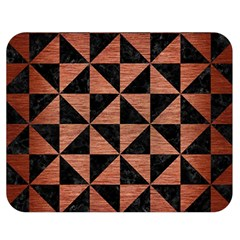 Triangle1 Black Marble & Copper Brushed Metal Double Sided Flano Blanket (medium) by trendistuff