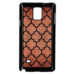 Tile1 Black Marble & Copper Brushed Metal (r) Samsung Galaxy Note 4 Case (black) by trendistuff