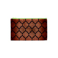 Tile1 Black Marble & Copper Brushed Metal (r) Cosmetic Bag (xs)