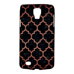 Tile1 Black Marble & Copper Brushed Metal Samsung Galaxy S4 Active (i9295) Hardshell Case by trendistuff