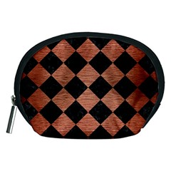 Square2 Black Marble & Copper Brushed Metal Accessory Pouch (medium) by trendistuff