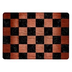 Square1 Black Marble & Copper Brushed Metal Samsung Galaxy Tab 10 1  P7500 Flip Case by trendistuff