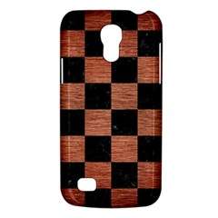 Square1 Black Marble & Copper Brushed Metal Samsung Galaxy S4 Mini (gt I9190) Hardshell Case  by trendistuff