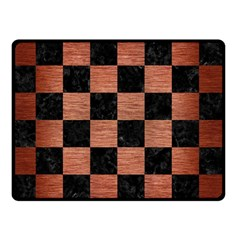 Square1 Black Marble & Copper Brushed Metal Double Sided Fleece Blanket (small) by trendistuff