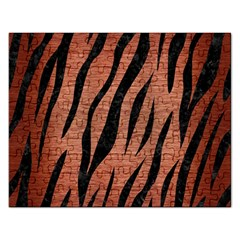 Skin3 Black Marble & Copper Brushed Metal (r) Jigsaw Puzzle (rectangular) by trendistuff