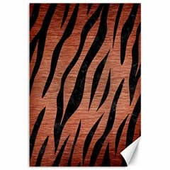Skin3 Black Marble & Copper Brushed Metal (r) Canvas 12  X 18  by trendistuff