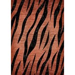 SKIN3 BLACK MARBLE & COPPER BRUSHED METAL (R) Circle Bottom 3D Greeting Card (7x5) Inside