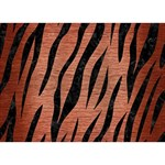 SKIN3 BLACK MARBLE & COPPER BRUSHED METAL (R) Circle Bottom 3D Greeting Card (7x5) Back