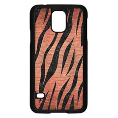 Skin3 Black Marble & Copper Brushed Metal (r) Samsung Galaxy S5 Case (black) by trendistuff