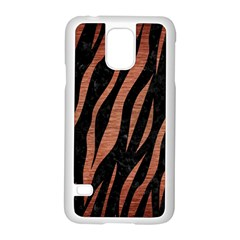 Skin3 Black Marble & Copper Brushed Metal Samsung Galaxy S5 Case (white) by trendistuff