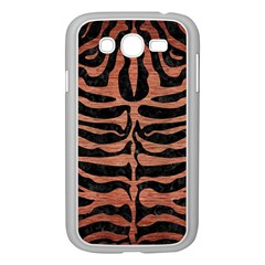 Skin2 Black Marble & Copper Brushed Metal Samsung Galaxy Grand Duos I9082 Case (white) by trendistuff
