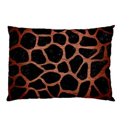 Skin1 Black Marble & Copper Brushed Metal (r) Pillow Case (two Sides) by trendistuff