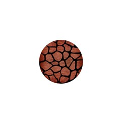 Skin1 Black Marble & Copper Brushed Metal 1  Mini Button by trendistuff