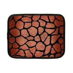 Skin1 Black Marble & Copper Brushed Metal Netbook Case (small) by trendistuff