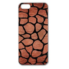 Skin1 Black Marble & Copper Brushed Metal Apple Seamless Iphone 5 Case (clear) by trendistuff