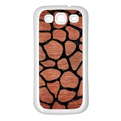 Skin1 Black Marble & Copper Brushed Metal Samsung Galaxy S3 Back Case (white) by trendistuff