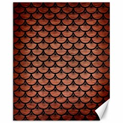Scales3 Black Marble & Copper Brushed Metal (r) Canvas 16  X 20  by trendistuff