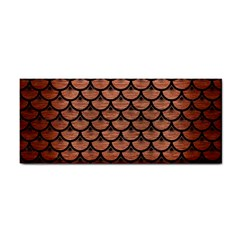 Scales3 Black Marble & Copper Brushed Metal (r) Hand Towel