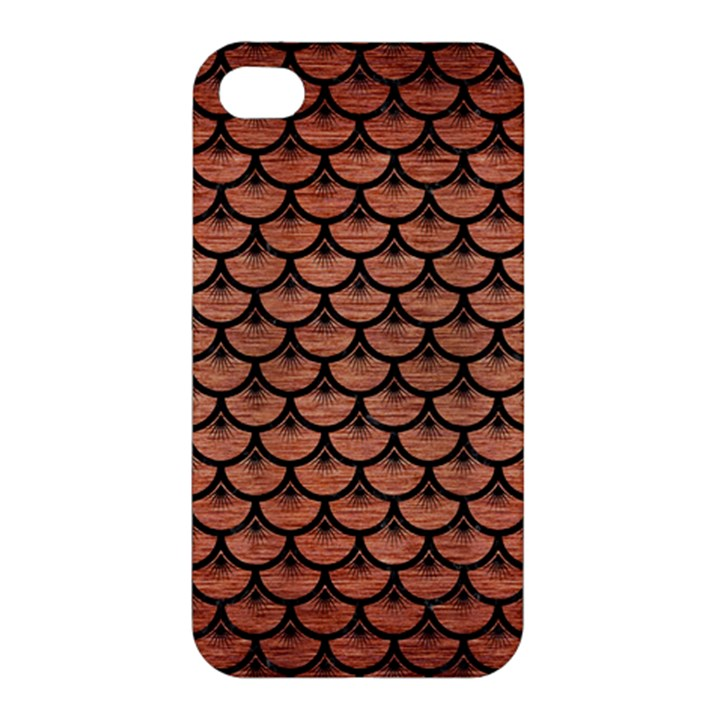 SCALES3 BLACK MARBLE & COPPER BRUSHED METAL (R) Apple iPhone 4/4S Premium Hardshell Case