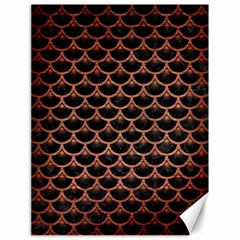 Scales3 Black Marble & Copper Brushed Metal Canvas 18  X 24  by trendistuff