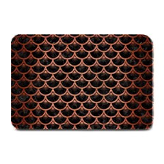 Scales3 Black Marble & Copper Brushed Metal Plate Mat by trendistuff