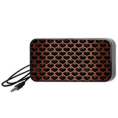 Scales3 Black Marble & Copper Brushed Metal Portable Speaker (black)