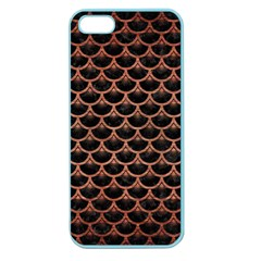 Scales3 Black Marble & Copper Brushed Metal Apple Seamless Iphone 5 Case (color) by trendistuff