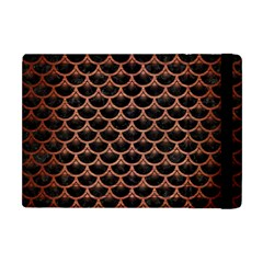 Scales3 Black Marble & Copper Brushed Metal Apple Ipad Mini Flip Case by trendistuff