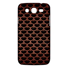 Scales3 Black Marble & Copper Brushed Metal Samsung Galaxy Mega 5 8 I9152 Hardshell Case  by trendistuff